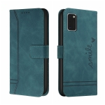 For Samsung Galaxy A41 Retro Skin Feel Horizontal Flip Soft TPU + PU Leather Case with Holder & Card Slots & Photo Frame(Army Green)