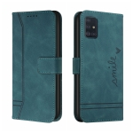 For Samsung Galaxy A51 4G Retro Skin Feel Horizontal Flip Soft TPU + PU Leather Case with Holder & Card Slots & Photo Frame(Army Green)