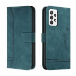 For Samsung Galaxy A52 Retro Skin Feel Horizontal Flip Soft TPU + PU Leather Case with Holder & Card Slots & Photo Frame(Army Green)