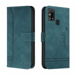 For Samsung Galaxy M31s Retro Skin Feel Horizontal Flip Soft TPU + PU Leather Case with Holder & Card Slots & Photo Frame(Army Green)