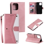 Stitching Calf Texture Horizontal Flip Leather Case with Holder & Card Slots & Wallet For iPhone 13(Rose Gold)