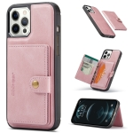 JEEHOOD Retro Magnetic Detachable Protective Case with Wallet & Card Slot & Holder For iPhone 13(Pink)