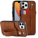 Crazy Horse Texture Shockproof TPU + PU Leather Case with Card Slot & Wrist Strap Holder For iPhone 11 Pro(Brown)
