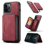 JEEHOOD Magnetic Zipper Horizontal Flip Leather Case with Holder & Card Slot & Wallet For iPhone 13 Pro Max(Red)