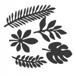 10 in 1 Creative Paper Cutting Shooting Props Tree Leaves Papercut Jewelry Cosmetics Background Photo Photography Props(Black)