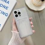 Transparent Card Slot Shockproof TPU Protective Case For iPhone 13 mini