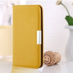 For Google Pixel 4a 5G Litchi Texture Horizontal Flip Leather Case with Holder & Card Slots(Yellow)