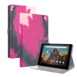 For Amazon Fire HD 10 2019 / 2017 Watercolor Pattern Skin Feel Magnetic Horizontal Flip PU Leather Case with Holder & Card Slots & Photo Frame & Sleep / Wake-up Function(Berry)