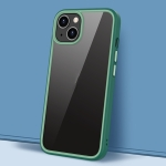 Gorgeous Color Series PC + TPU Shockproof Protective Case For iPhone 13(Dark Green)