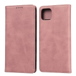 For Google Pixel 4 XL Calf Texture Magnetic Horizontal Flip Leather Case with Holder & Card Slots & Wallet(Rose Gold)