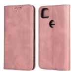 For Google Pixel 4a Calf Texture Magnetic Horizontal Flip Leather Case with Holder & Card Slots & Wallet(Rose Gold)
