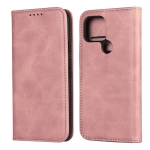 For Google Pixel 5 Calf Texture Magnetic Horizontal Flip Leather Case with Holder & Card Slots & Wallet(Rose Gold)