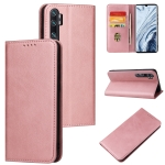 For Xiaomi Mi Note 10 Pro Calf Texture Magnetic Horizontal Flip Leather Case with Holder & Card Slots & Wallet(Rose Gold)