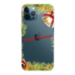 Christmas Series Transparent TPU Protective Case For iPhone 13 Pro Max(Wheatgrass Bell)