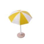 Miniature Beach Sun Umbrella Sandy Beach Landscape Decoration Photography Props(Yellow)