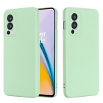 For OnePlus Nord 2 5G Solid Color Liquid Silicone Shockproof Full Coverage Protective Case(Green)