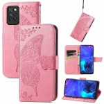 For Infinix Note 10 Pro Butterfly Love Flower Embossed Horizontal Flip Leather Case with Holder & Card Slots & Wallet & Lanyard(Pink)