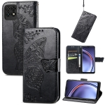 For Huawei Maimang 10 SE Butterfly Love Flower Embossed Horizontal Flip Leather Case with Holder & Card Slots & Wallet & Lanyard(Black)