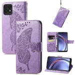For Huawei Maimang 10 SE Butterfly Love Flower Embossed Horizontal Flip Leather Case with Holder & Card Slots & Wallet & Lanyard(Light Purple)