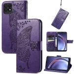 For Huawei Maimang 10 SE Butterfly Love Flower Embossed Horizontal Flip Leather Case with Holder & Card Slots & Wallet & Lanyard(Dark Purple)