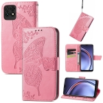 For Huawei Maimang 10 SE Butterfly Love Flower Embossed Horizontal Flip Leather Case with Holder & Card Slots & Wallet & Lanyard(Pink)