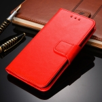 For Xiaomi Redmi K40 Gaming Crystal Texture Horizontal Flip Leather Case with Holder & Card Slots & Wallet(Red)