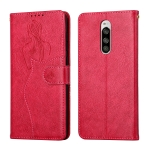 For Sony Xperia 1 / Xperia XZ4 Beauty Girl Embossing Pattern Horizontal Flip Leather Case with Holder & Card Slot & Wallet & Photo Frame(Red)