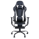 [US Warehouse] High Back Racing Gaming Chairs with Footrest Tier, Size: 25.2×20.47×52-55.91 inch