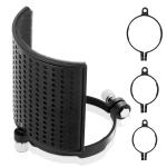 TEYUN PS-4×3 Condenser Microphone U-shaped Blowout Cover Desktop Bracket Audio Accessory Clip(Black)