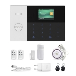 4G/GPRS + WiFi Intelligent Alarm System with Touch Keypad & LCD Screen & RFID function