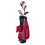 [US Warehouse] MRTISOL 5 in 1 Super Light Right Hand Golf Club Set for 8-10 Years Old Children(Red)