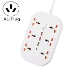 T21 PD3.0 + QC3.0 Multi-Hole Socket Plug 3000W High Power Socket, AU Plug(White)