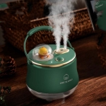 F08 Wired Water Replenishing Double Spray Humidifier LED Night Light Humidifier(Green)