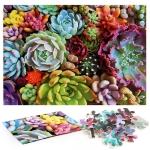 1000 Pieces Adult Puzzle Succulent Plants Puzzle Toy, Style: Thick Paper