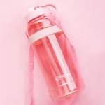 MINGXIA MXCP05 Large Capacity Plastic Water Cup With Straw Outdoor Portable Sports Kettle, Colour: Pink 2000ml