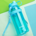 MINGXIA MXCP05 Large Capacity Plastic Water Cup With Straw Outdoor Portable Sports Kettle, Colour: Blue 3000ml