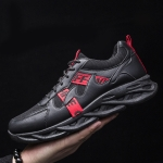 9028 Man Sports Shoes Fashion Casual Shoes Clunky Sneaker, Size: 39(Black Red)