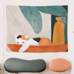 Fabric Tapestry Exaggerated Abstract Style Hanging Background Covering Cloth, Size: 150x130cm(GRS-6001)