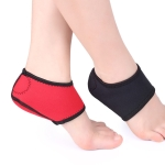 3 Pairs Black And Red Heel Socks Heel Protector Ankle Protection And Warm Foot Cover, Size: M(Black)