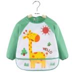 2 PCS Baby Eating Gown Children Waterproof Apron, Colour: Long-sleeved Deer(100cm)