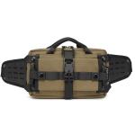 Ozuko 9450 Men Waterproof Waist Bag Sports Trend Shoulder Messenger Bag(Khaki)