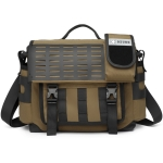 Ozuko 9445 Men Oxford Cloth Messenger Bag Outdoor Waterproof Function Messenger Bag(Kahki)