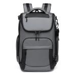 Ozuko 9409 Men Business 15.6-inch Laptop Backpack Travel Sports Leisure Backpack(Dark Gray)