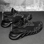 TD19 Mesh Men Running Shoes Men Casual Sports Shoes, Size: 40(Black Gray)