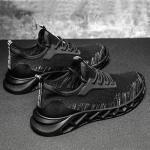 TD19 Mesh Men Running Shoes Men Casual Sports Shoes, Size: 43(Black Gray)