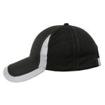 Reflective Safety Baseball Cap Breathable Construction Site Outdoor Construction Mesh Cap, Colour: Black
