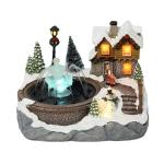 Christmas Home Ornaments Decoration Luminous Fountain House(Snowman)