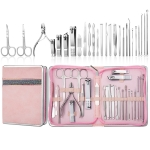 26 In 1  Pink  Nail Clipper Set Manicure Set Stainless Steel Nail Clipper Manicure Tool