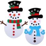 Handmade Felt Christmas Tree Decoration Children DIY Christmas Decorations, Style: Dress-up 1