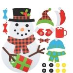 Handmade Felt Christmas Tree Decoration Children DIY Christmas Decorations, Style: Dress-up 2
